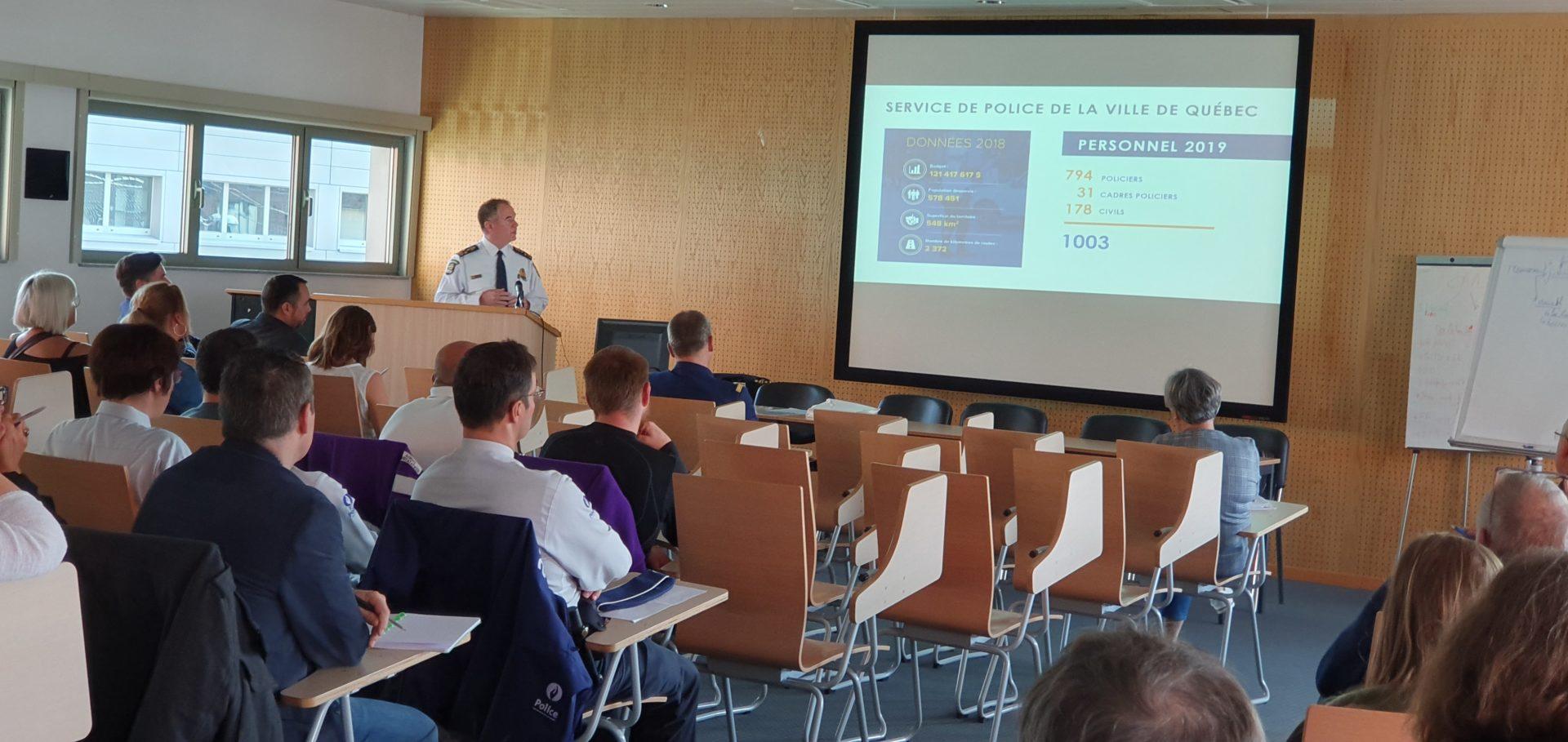 Octobre 2020 - Namur - Visite du chef de la police de Québec