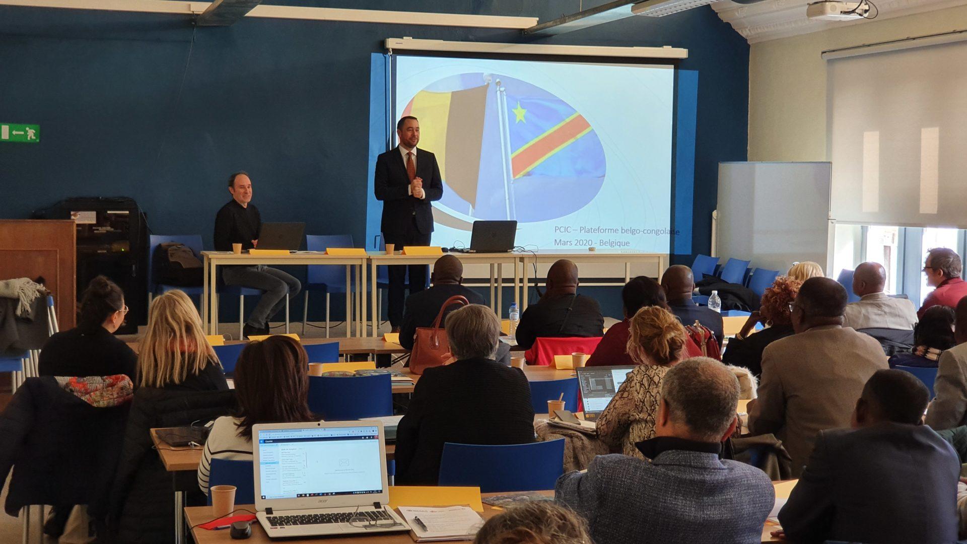Prise de parole de M. Prévot lors de la plateforme nord de la CIC à Namur
