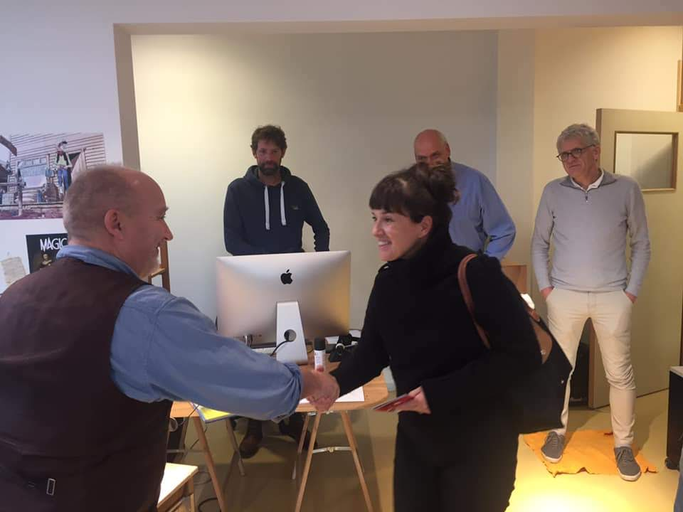 Novembre 2020 - Namur - Visite de la responsable des bibliothèques de Québec