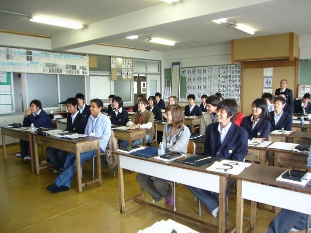 Ogaki - Visite d'étudiants namurois