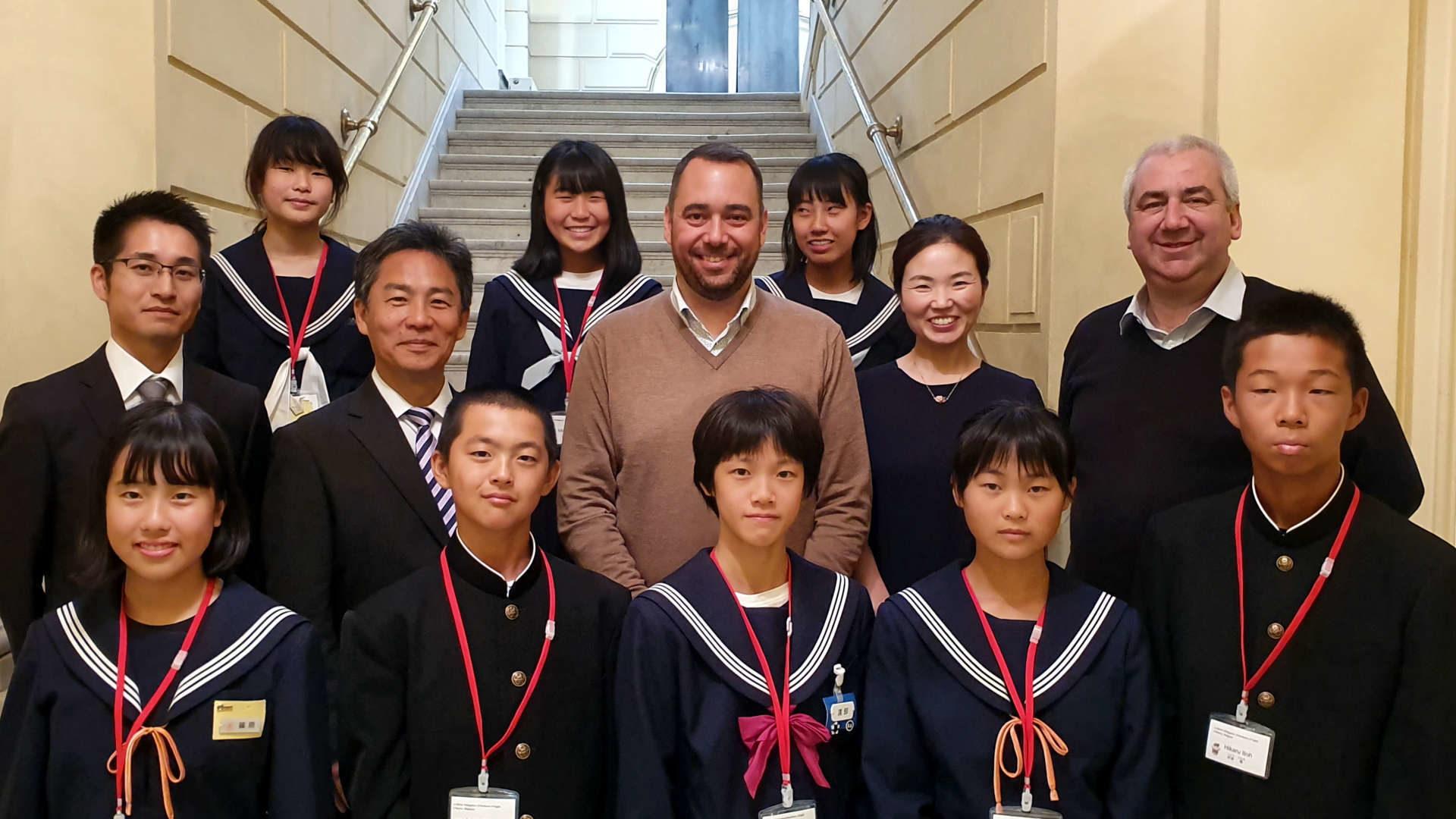 Visite des jeunes d'Ogaki à Namur en 2019